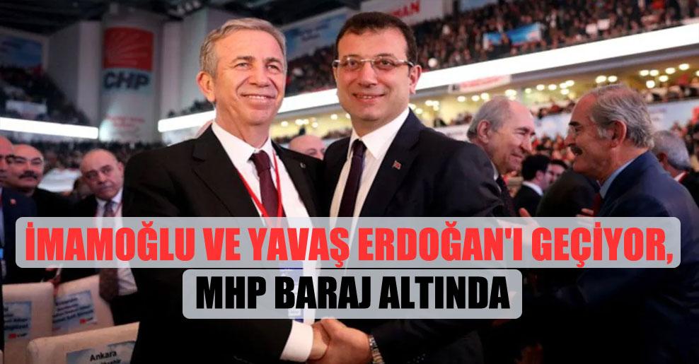 İmamoğlu ve Yavaş Erdoğan'ı geçiyor, MHP baraj altında