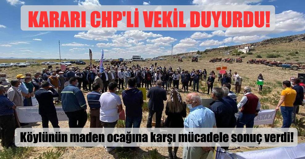 Kararı CHP'li vekil duyurdu!