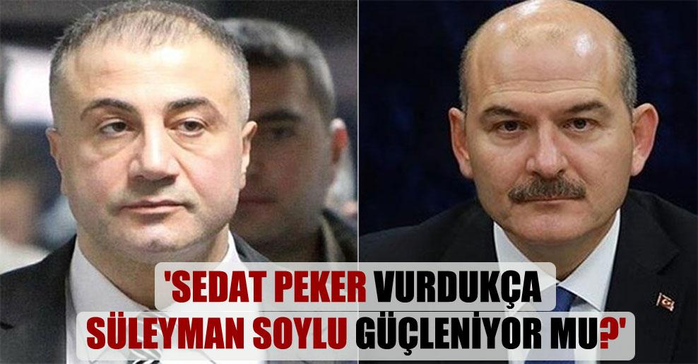 'Sedat Peker vurdukça Süleyman Soylu güçleniyor mu?'