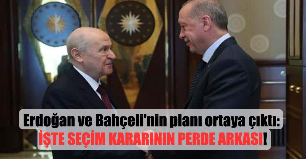 Erdoğan ve Bahçeli'nin planı ortaya çıktı: İşte Seçim kararının perde arkası!