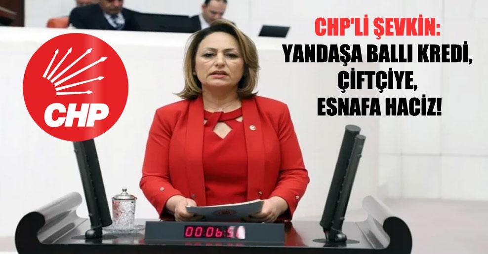 CHP'li Şevkin: Yandaşa ballı kredi, çiftçiye, esnafa haciz!