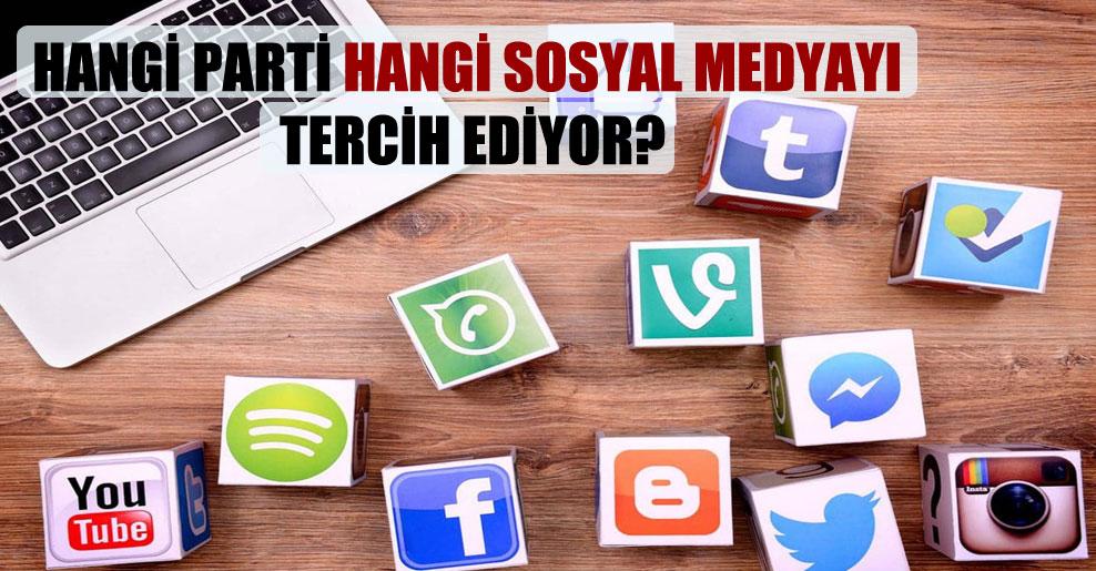 Hangi parti hangi sosyal medyayı tercih ediyor?