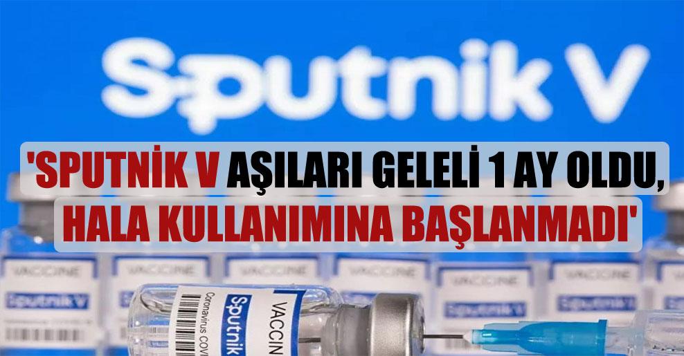 'Sputnik V aşıları geleli 1 ay oldu, hala kullanımına başlanmadı'
