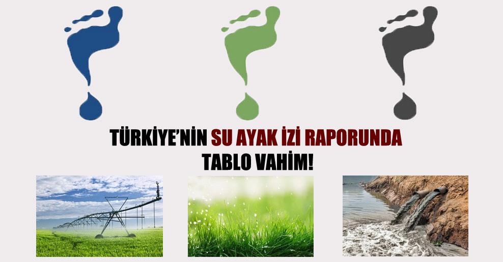 Türkiye'nin su ayak izi raporunda tablo vahim!