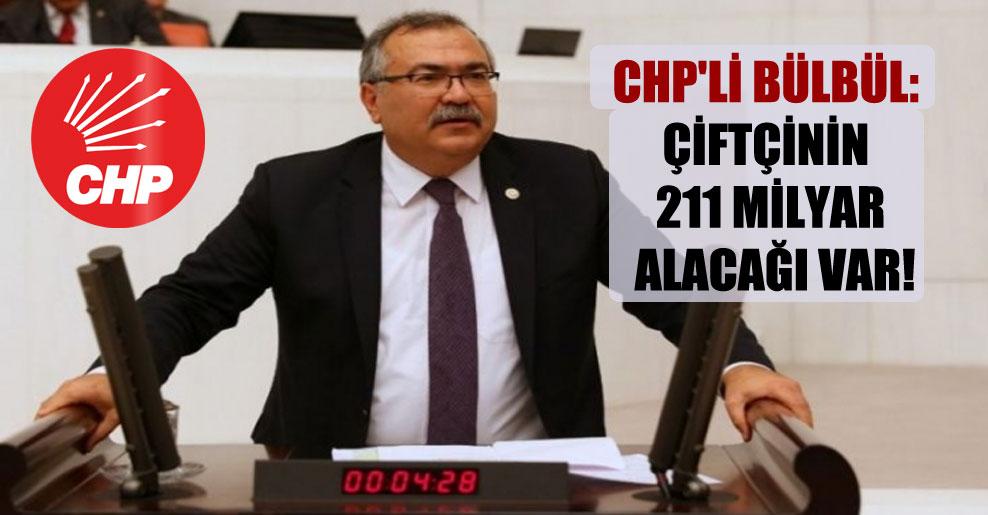 CHP'li Bülbül: Çiftçinin 211 milyar alacağı var!