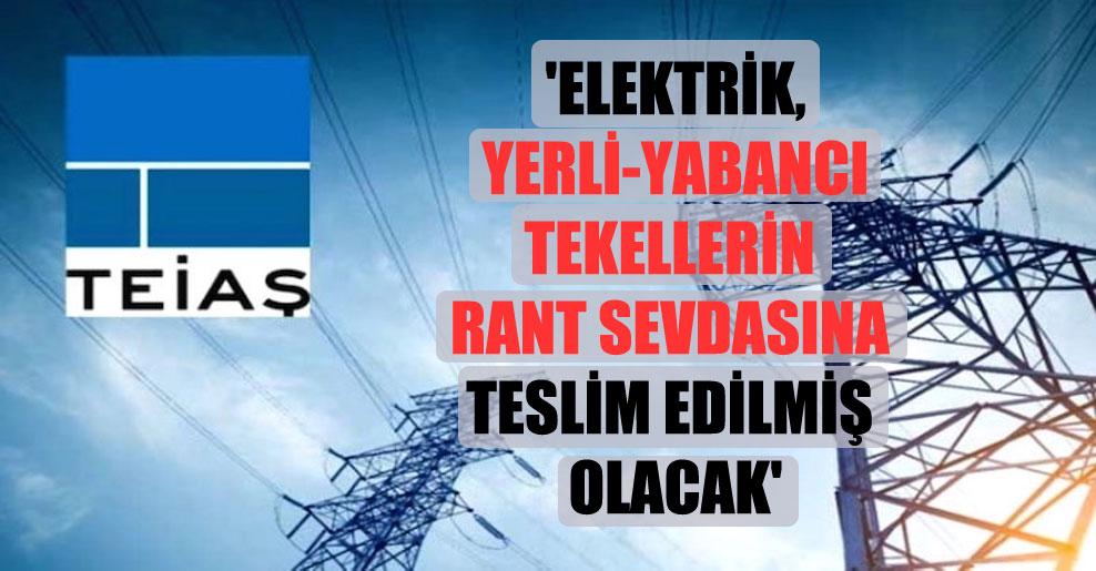 'Elektrik, yerli-yabancı tekellerin rant sevdasına teslim edilmiş olacak'