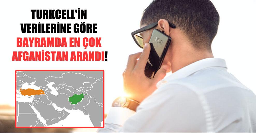 Turkcell'in verilerine göre bayramda en çok Afganistan arandı!