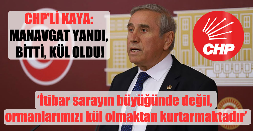 CHP'li Kaya: Manavgat yandı, bitti, kül oldu!