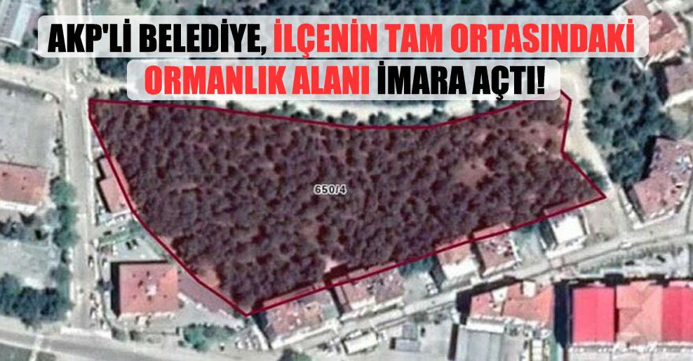AKP'li belediye, ilçenin tam ortasındaki ormanlık alanı imara açtı!