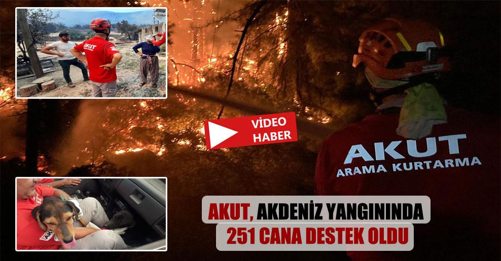 AKUT, Akdeniz yangınında 251 cana destek oldu
