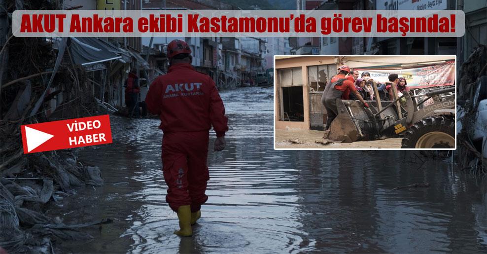 AKUT Ankara ekibi Kastamonu'da görev başında!
