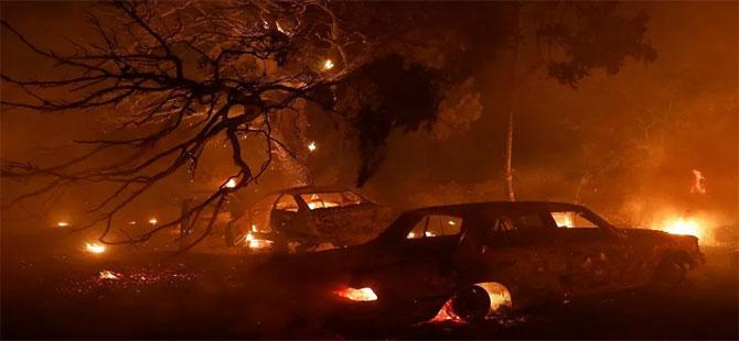 Yunanistan'ın başkenti Atina yakınlarında orman yangını
