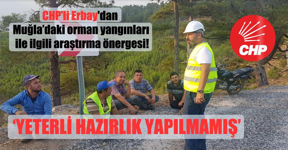 CHP'li Erbay'dan Muğla'daki orman yangınları ile ilgili araştırma önergesi!