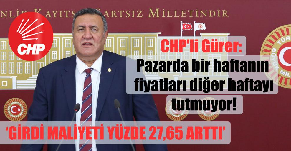 CHP'li Gürer: Pazarda bir haftanın fiyatları diğer haftayı tutmuyor!