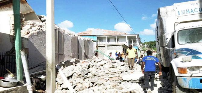 Haiti'deki 7.2'lik depremde can kaybı 304'e yükseldi