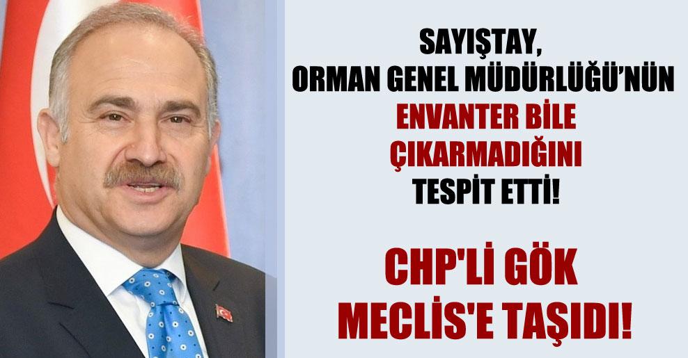 Sayıştay, Orman Genel Müdürlüğü'nün envanter bile çıkarmadığını tespit etti! CHP'li Gök Meclis'e taşıdı!