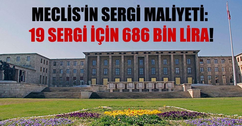 Meclis'in sergi maliyeti: 19 sergi için 686 bin Lira!
