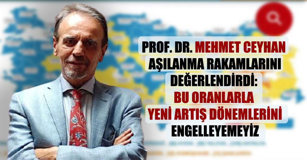 Prof. Dr. Mehmet Ceyhan aşılanma rakamlarını değerlendirdi: Bu oranlarla yeni artış dönemlerini engelleyemeyiz