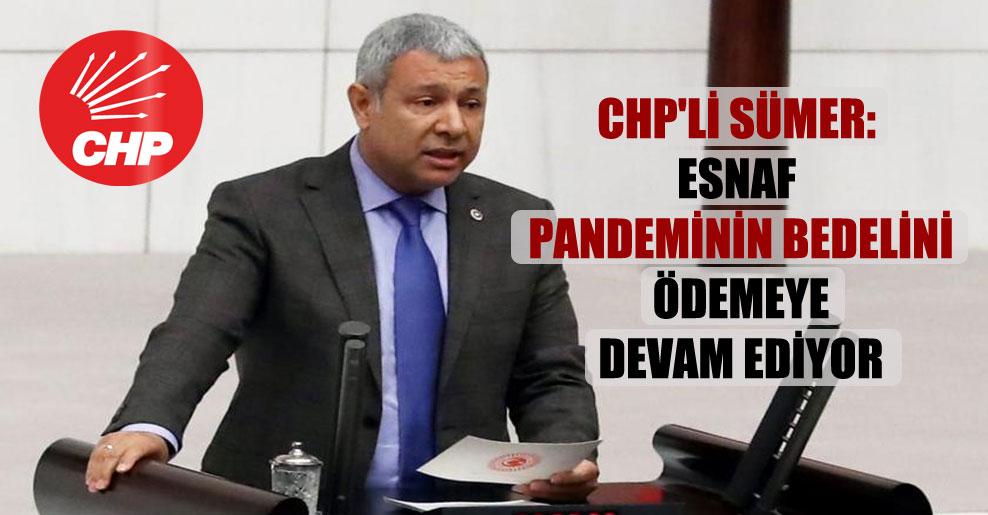CHP'li Sümer: Esnaf pandeminin bedelini ödemeye devam ediyor