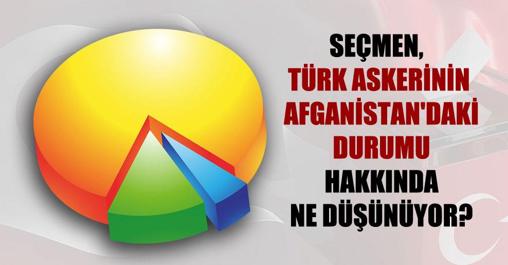 Seçmen, Türk askerinin Afganistan'daki durumu hakkında ne düşünüyor?