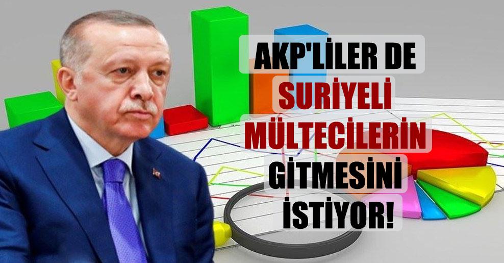 AKP'liler de Suriyeli mültecilerin gitmesini istiyor!