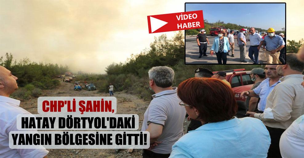 CHP'li Şahin, Hatay Dörtyol'daki yangın bölgesine gitti!