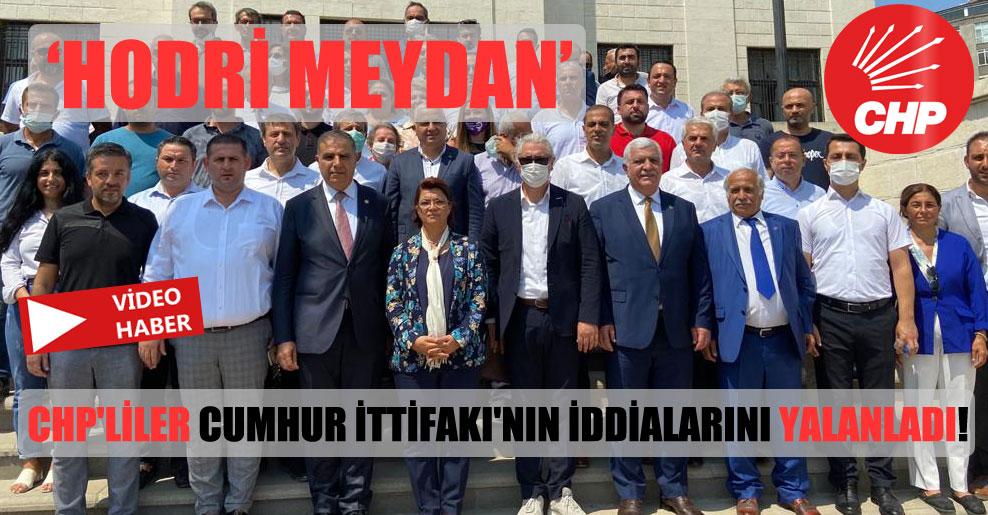 CHP'liler Cumhur İttifakı'nın iddialarını yalanladı!