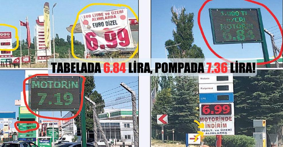 Tabelada 6.84 lira, pompada 7.36 lira!