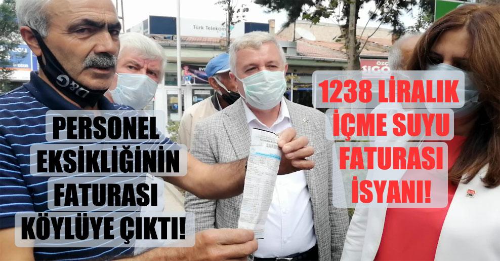 Personel eksikliğinin faturası köylüye çıktı: 1238 Liralık içme suyu faturası isyanı!