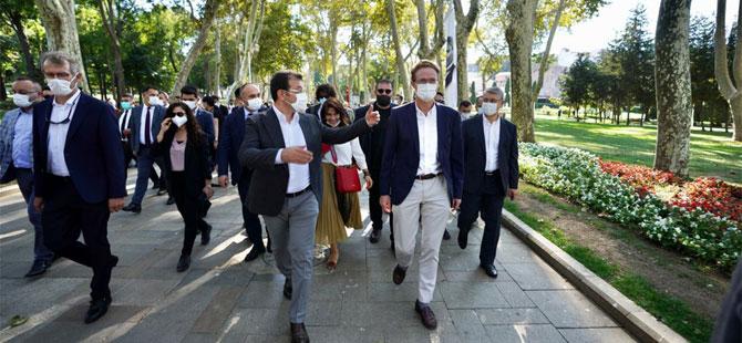 İmamoğlu, AB Büyükelçisi ile 'Hareketlilik Haftası'nda yürüdü!