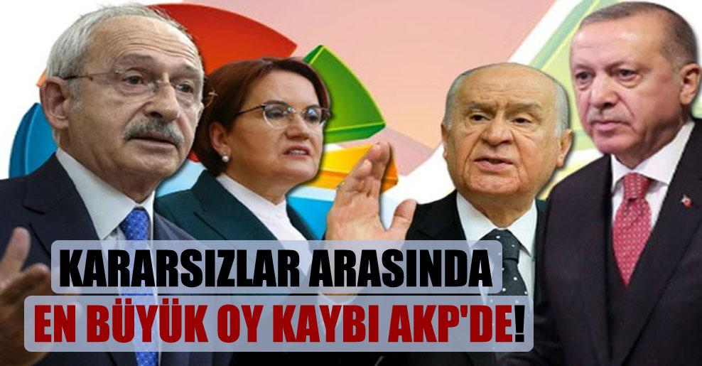 Kararsızlar arasında en büyük oy kaybı AKP'de!