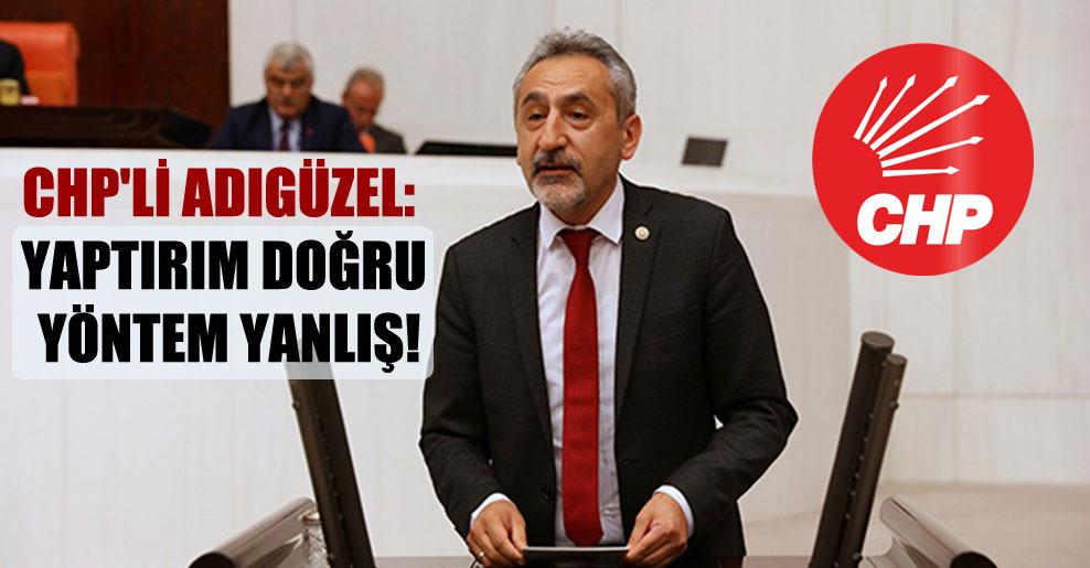 CHP'li Adıgüzel: Yaptırım doğru yöntem yanlış!
