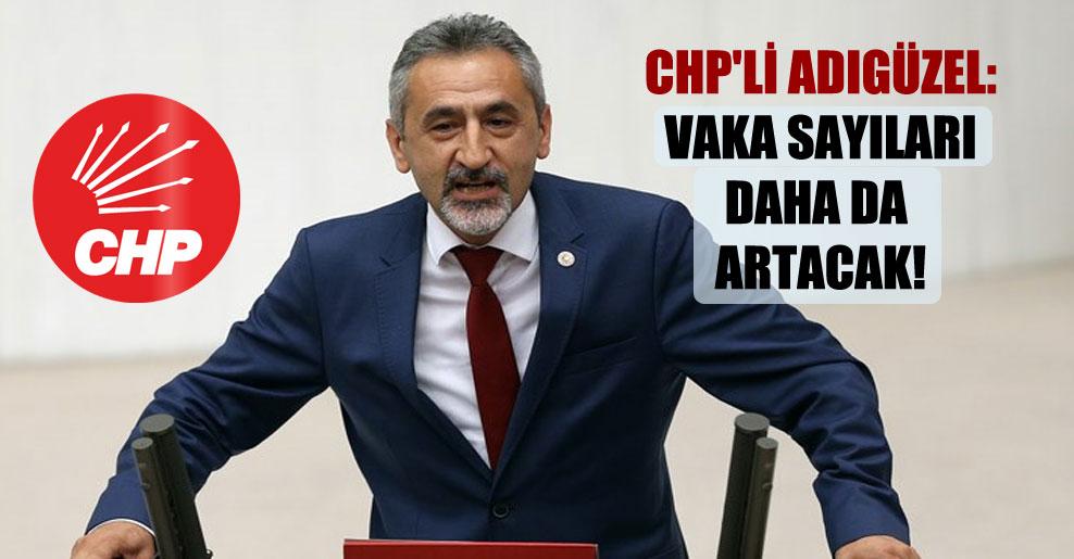 CHP'li Adıgüzel: Vaka sayıları daha da artacak!
