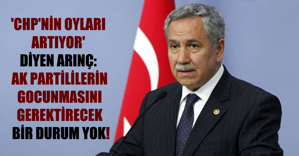 'CHP'nin oyları artıyor' diyen Arınç: AK Partililerin gocunmasını gerektirecek bir durum yok!