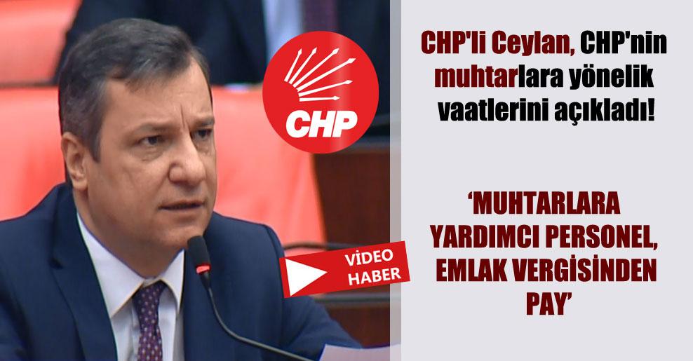 CHP'li Ceylan, CHP'nin muhtarlara yönelik vaatlerini açıkladı!