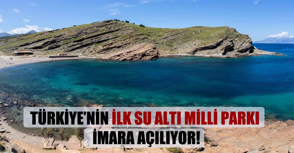 Türkiye'nin ilk su altı milli parkı imara açılıyor!