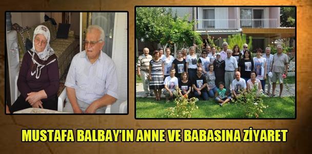 Mustafa Balbay'ın anne ve babasına ziyaret