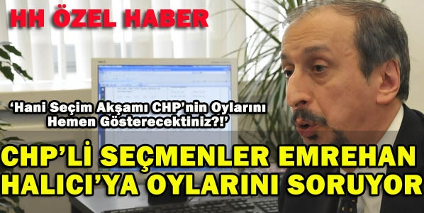 CHP Seçmeni Halıcı'dan Hesap Soruyor