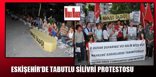 Eskişehir'de tabutlu Silivri protestosu